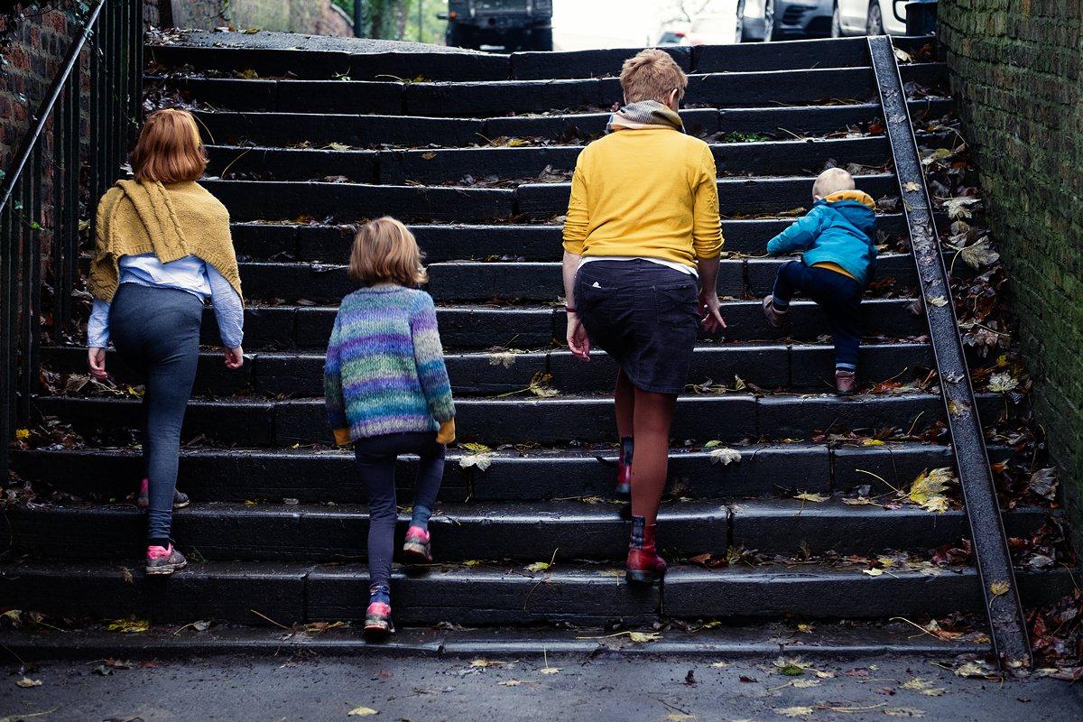Gayle Johnson Family Climbing Steps