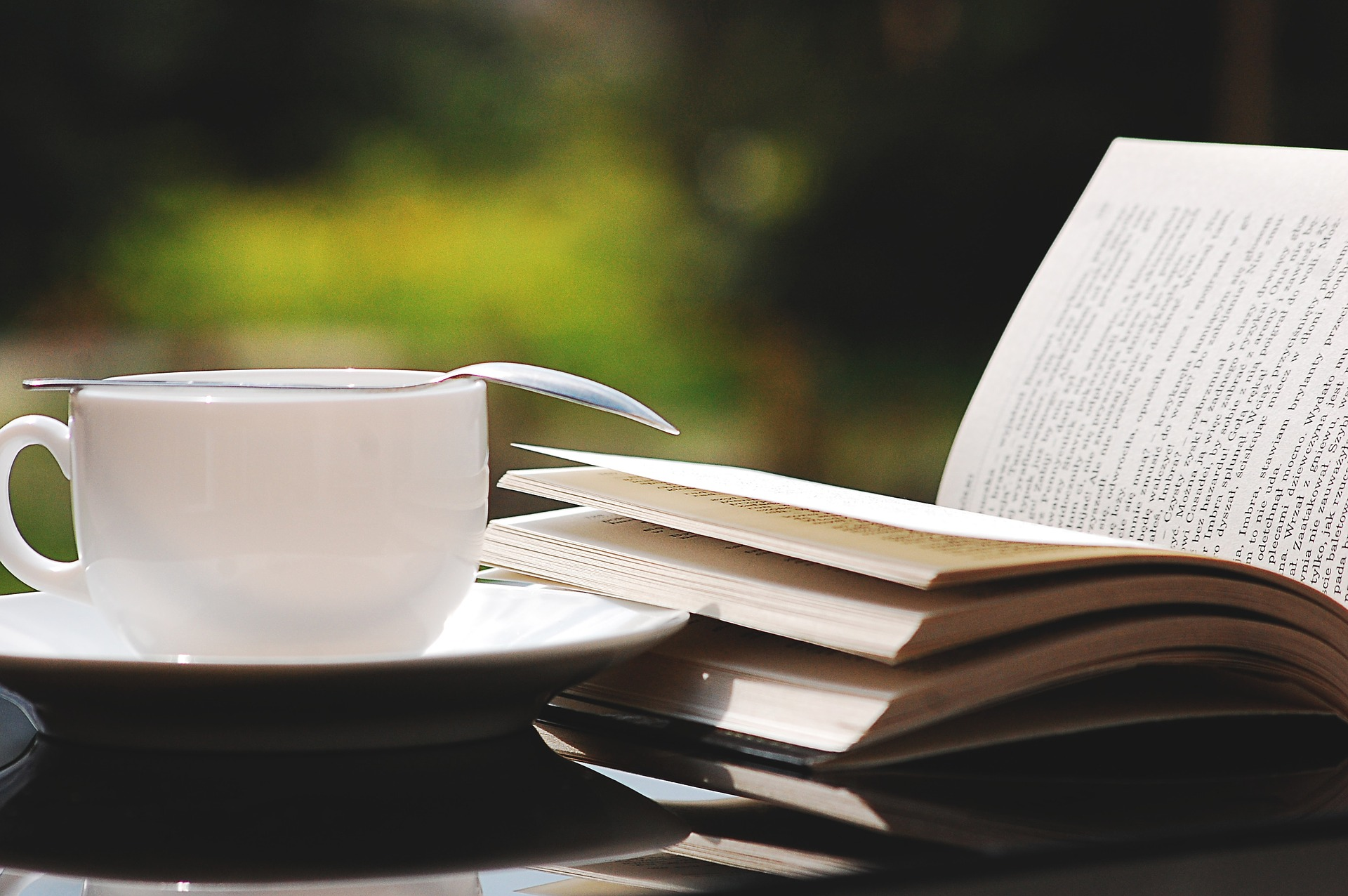 summer writing retreat with book and coffee
